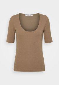 Samsøe Samsøe - ALEXO - Basic T-shirt - caribou - 4