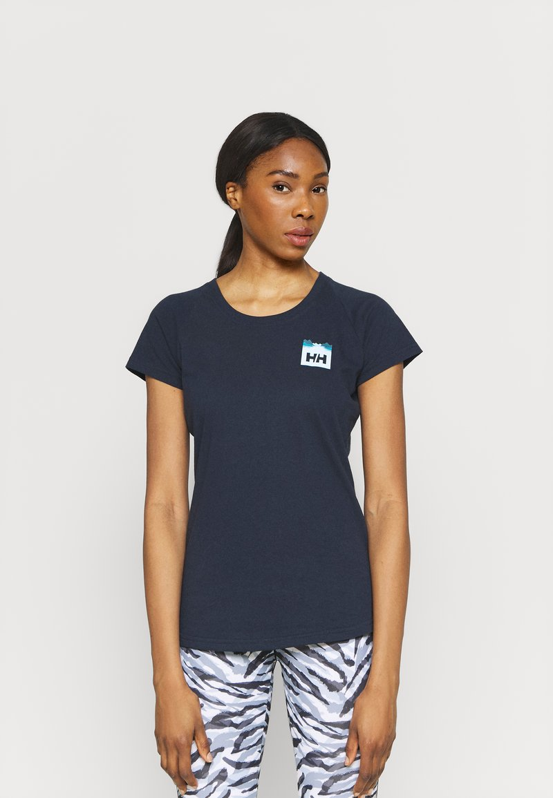 Helly Hansen - NORD GRAPHIC DROP - Print T-shirt - navy