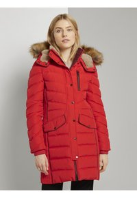 TOM TAILOR - SIGNATURE PUFFER COAT - Winter coat - strong red - 0