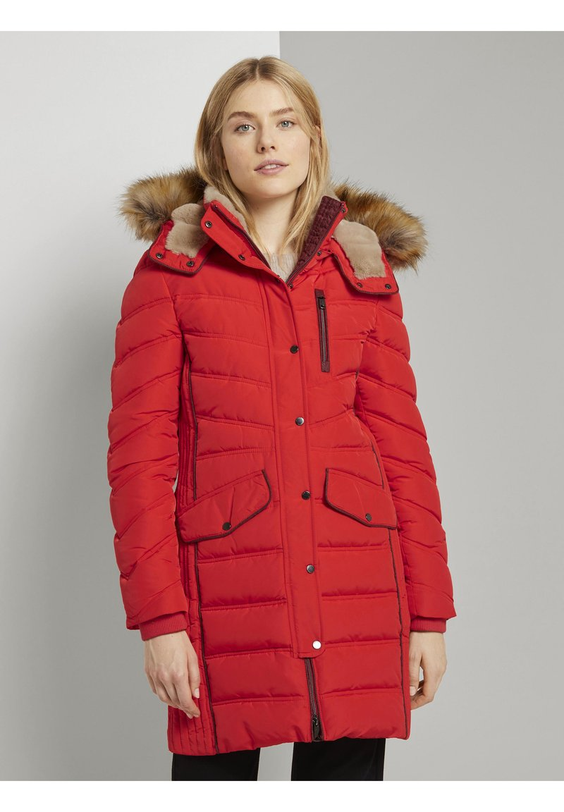 TOM TAILOR - SIGNATURE PUFFER COAT - Winter coat - strong red