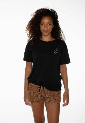 T-shirt print - true black