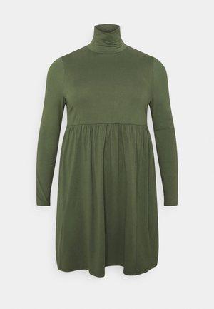 SOFT TOUCH HIGHNECK SMOCK DRESS - Denní šaty - dark khaki