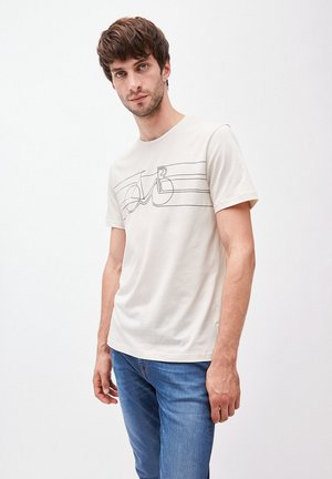 JAAMES SMOOTH BIKE - Print T-shirt - white sand