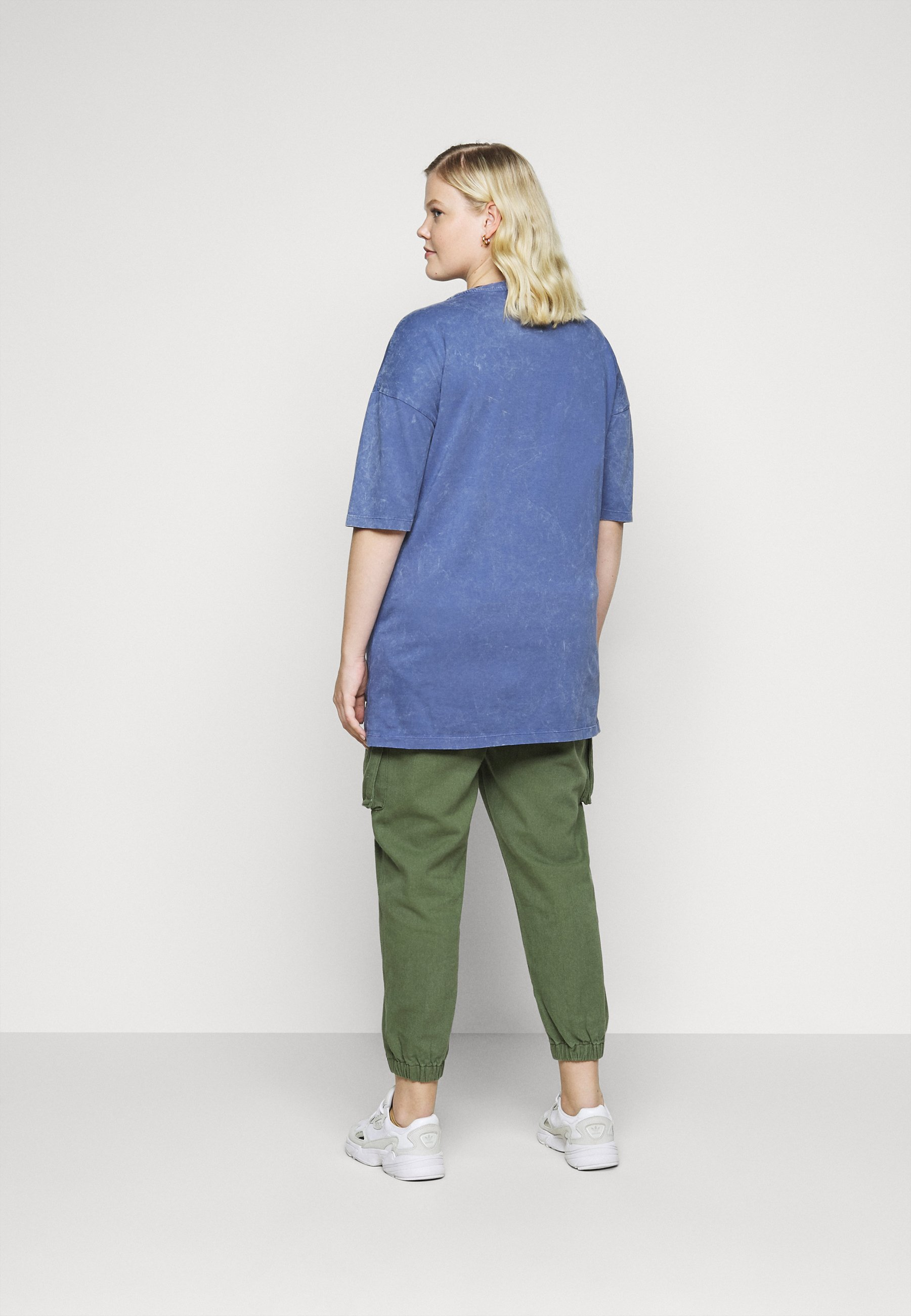 Simply Be Boxy Tunic - T-shirts Med Print Denim Blue/blå