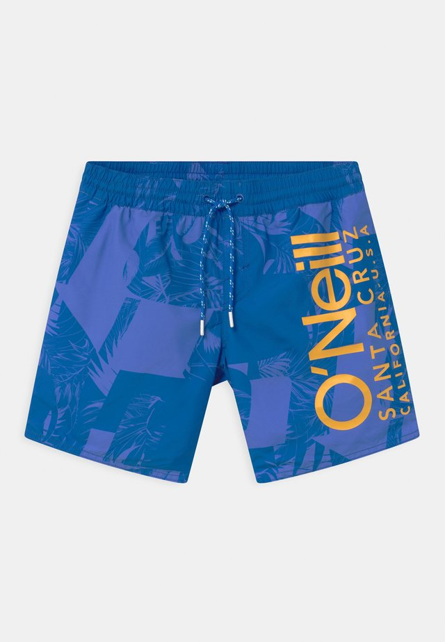 CALI FLORAL - Swimming shorts - blue
