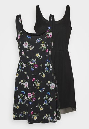 2 PACK - Shift dress - black/multi-coloured