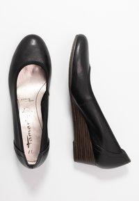 Tamaris - COURT SHOE - Wedges - black - 3