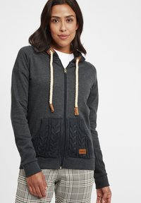Oxmo - MATILDA - Zip-up hoodie - dar grey m - 0