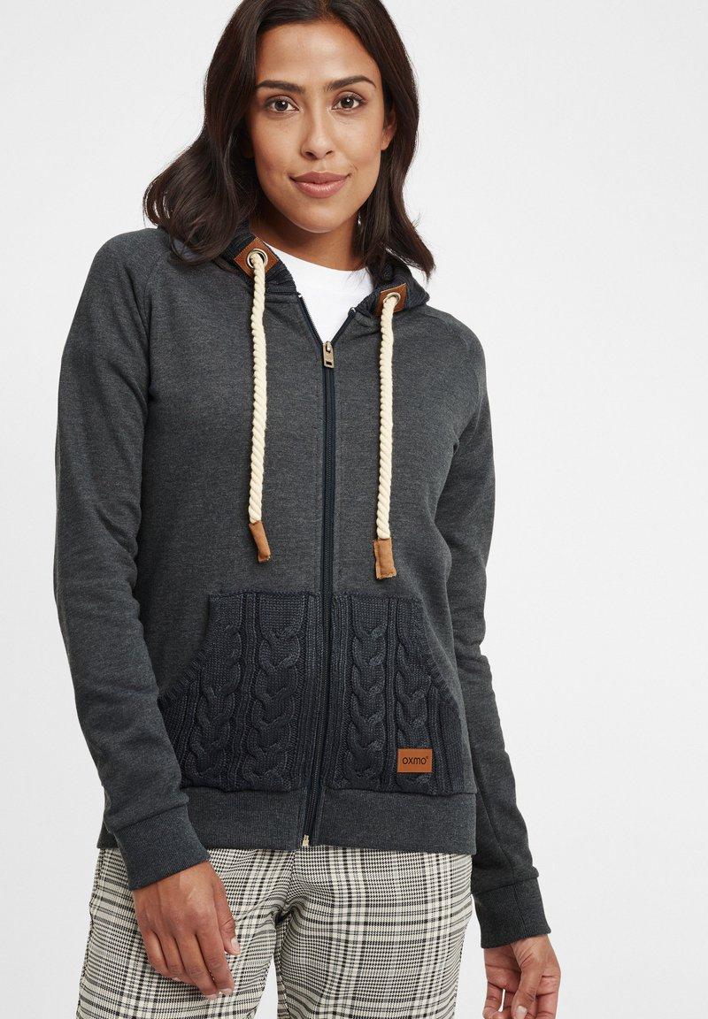 Oxmo - MATILDA - Zip-up hoodie - dar grey m