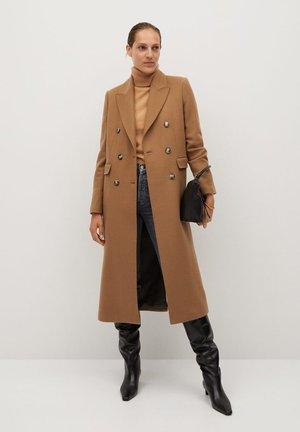 Płaszcz wełniany /Płaszcz klasyczny - middenbruin