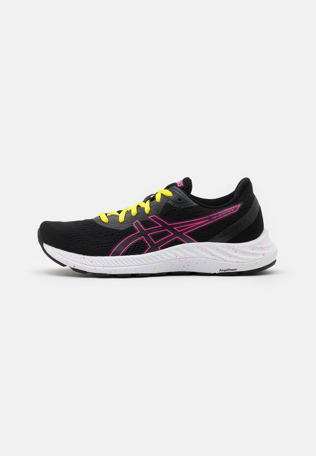 GEL EXCITE 8 - Neutral running shoes - black/hot pink