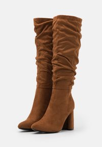 ONLY SHOES - ONLBRODIE LIFE BOOT - High heeled boots - cognac - 2