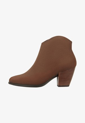 SHAPE WESTERN - Ankle boot - coffee