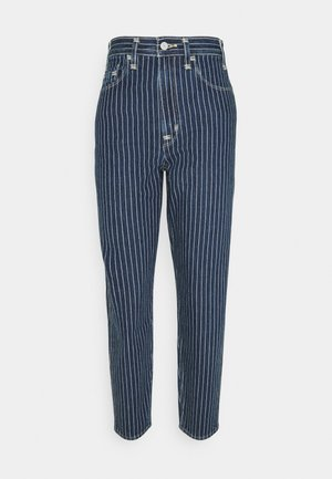 HIGH LOOSE TAPER - Jeansy Relaxed Fit - blue denim/off-white