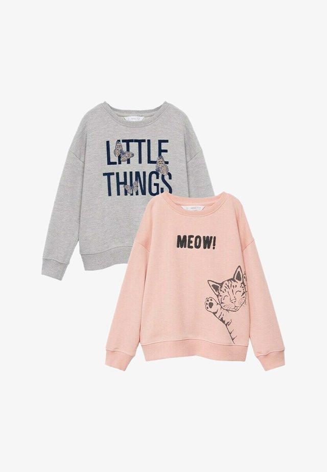 2 PACK - Sweatshirt - hellrosa