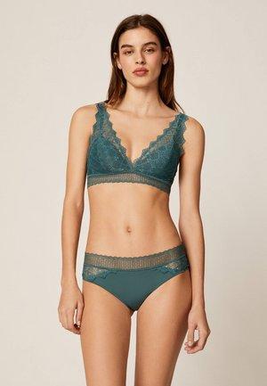 HIPSTER-SLIP MIT GEOMETRISCHER SPITZE 30056697 - Slip - turquoise
