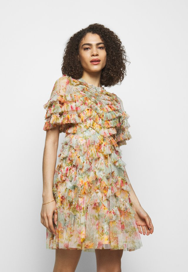 SUNSET GARDEN MINI DRESS - Vestito elegante - multicolor