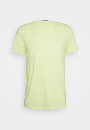 TEE WITH BACKPRINT - Jednoduché triko - cream yellow melange