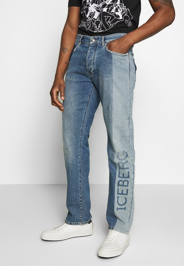 PANTALONE LOGO - Jeans slim fit - indaco