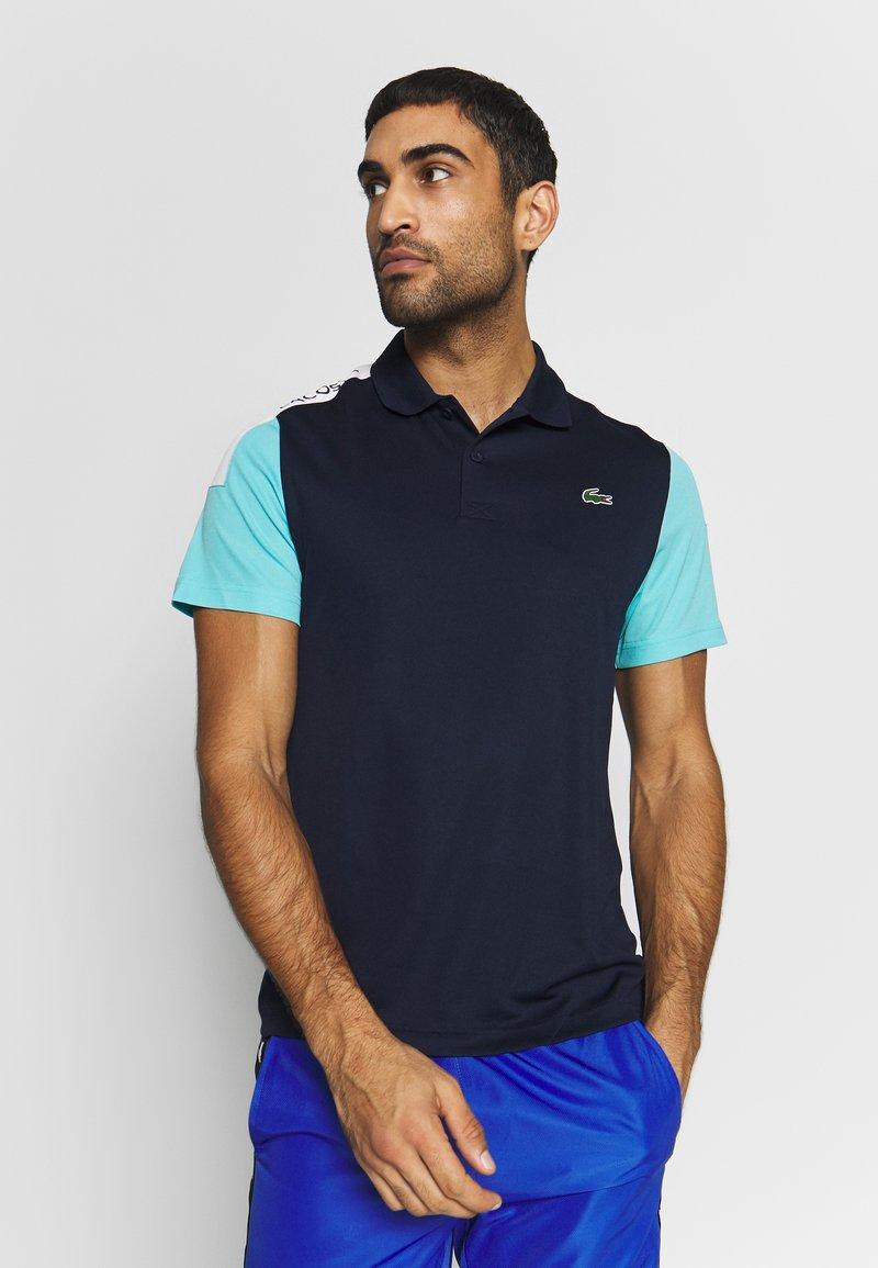 Lacoste Sport - TENNIS - Sports shirt - navy blue/haiti blue/white