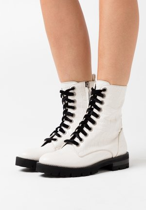 RENEE - Platform ankle boots - white