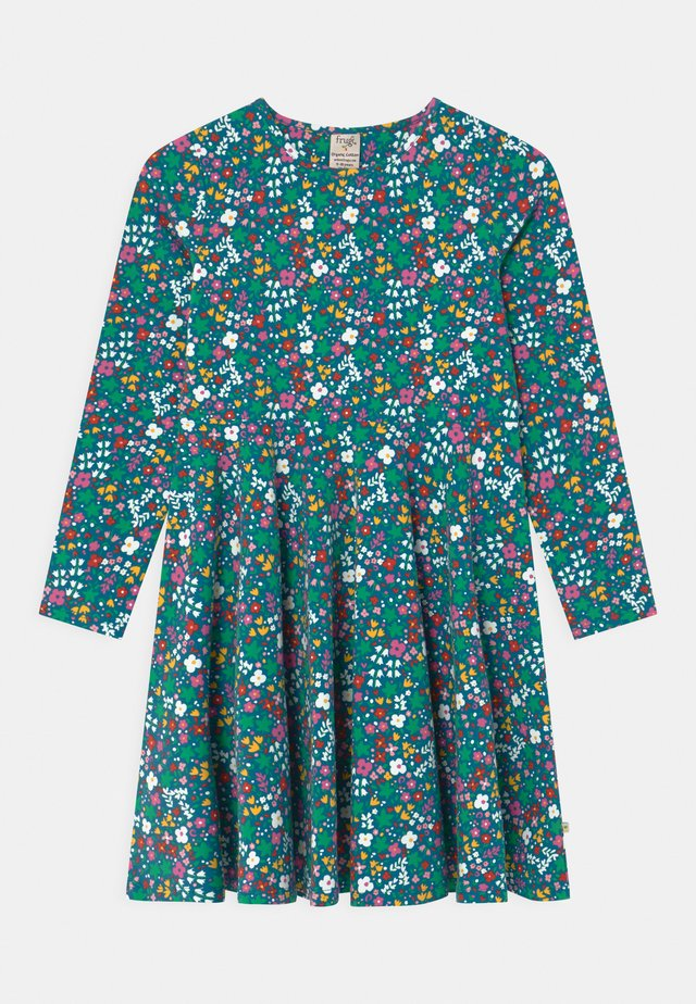 SOFIA SKATER WILD FLORAL - Jerseykjole - blue