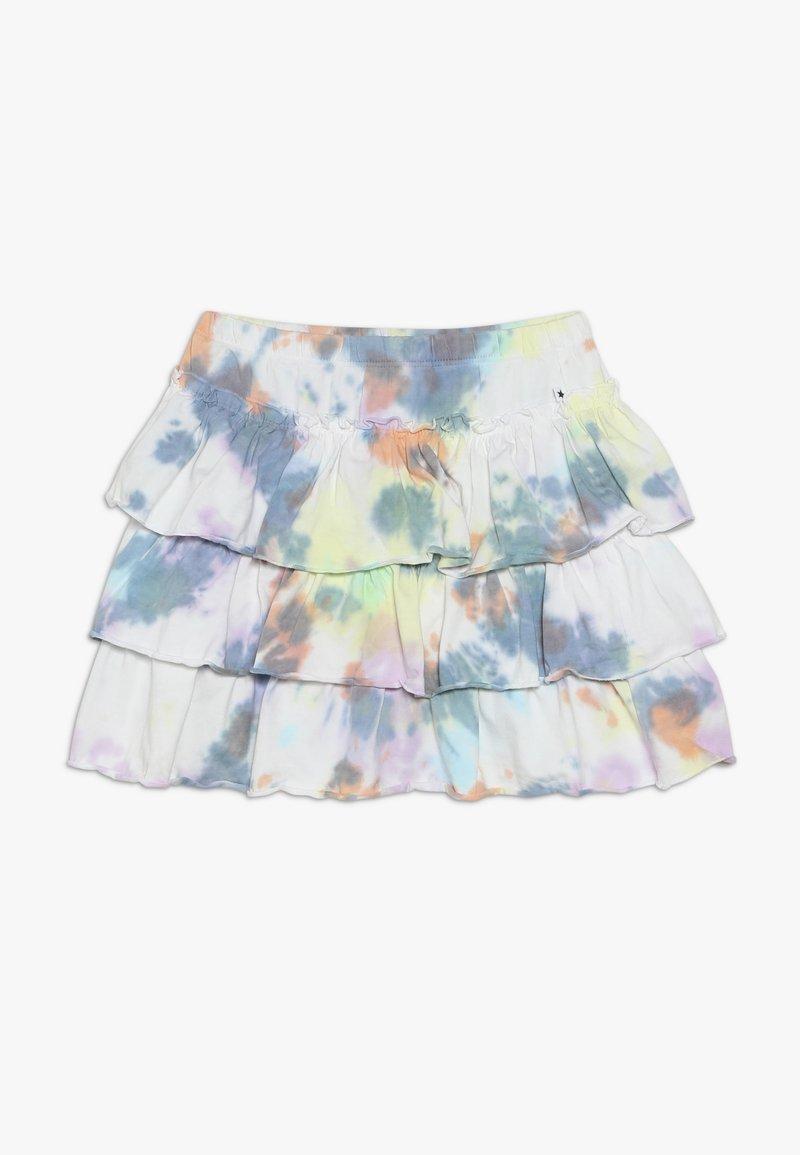 Molo - BELL - Áčková sukně - white/multi-coloured