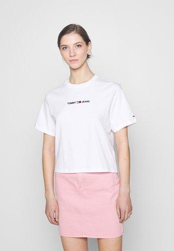 LINEAR LOGO TEE - T-shirt imprimé - white