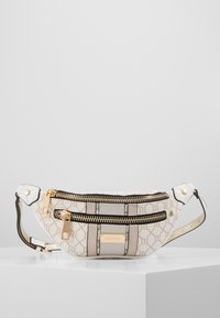 River Island - CHECKERBOARD BUMBAG - Bæltetasker - light grey - 0