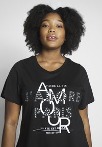 Dorothy Perkins Curve - AMOUR MOTIF TEE - T-shirt imprimé - black - 3
