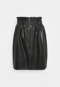 Vila - VIJOSEP SHORT ZIPPER SKIRT - A-line skirt - black - 0