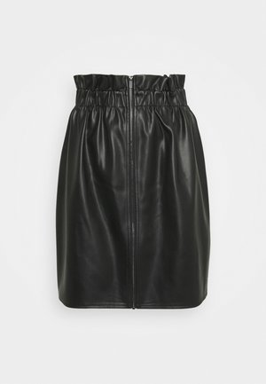 VIJOSEP SHORT ZIPPER SKIRT - A-line skirt - black