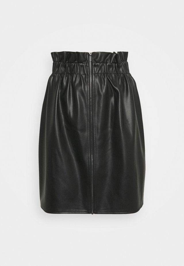 VIJOSEP SHORT ZIPPER SKIRT - Spódnica trapezowa - black