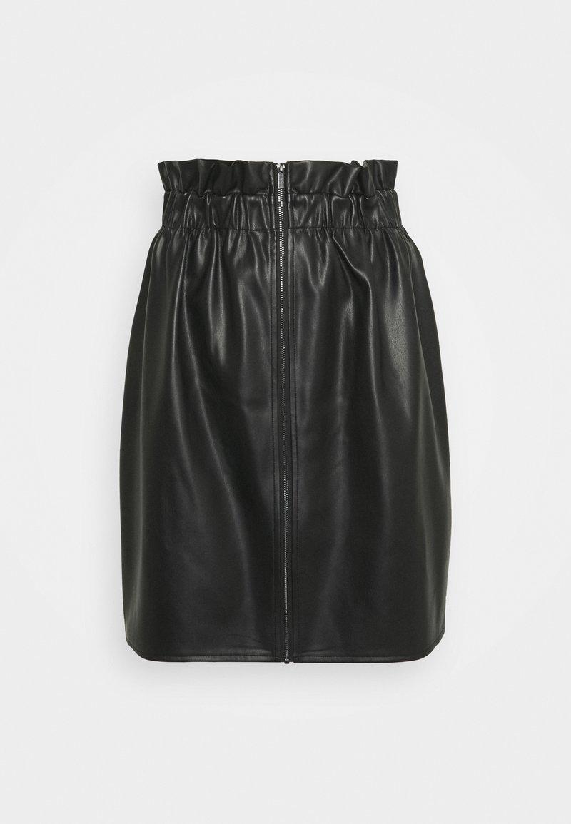 Vila - VIJOSEP SHORT ZIPPER SKIRT - A-line skirt - black