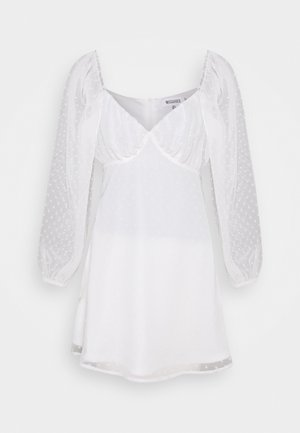 MILKMAID SKATER DRESS DOBBY - Vestito estivo - white