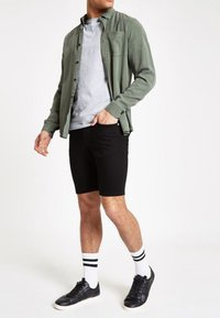 River Island - Denim shorts - black - 1