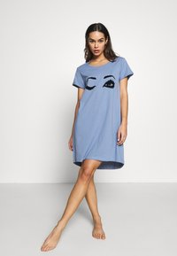 Hunkemöller - NIGHTIE R NECK - Camicia da notte - country blue - 1