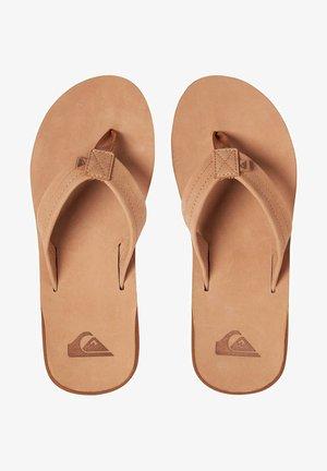 ERREKA - T-bar sandals - tan - solid