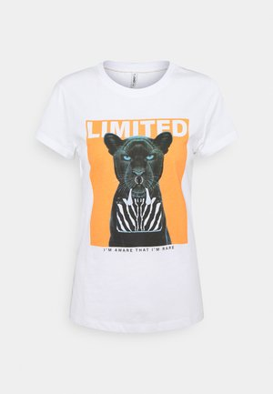 ONLVIBE LIFE FIT ANIMAL - Print T-shirt - bright white