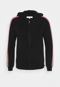 STRIPE SLEEVE HOODIE - Zip-up hoodie - black