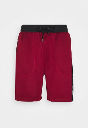 SHADOW LOOSE FIT - Shorts - deep red/black