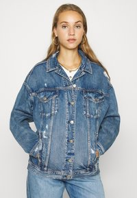 American Eagle - BOYFRIEND - Džínová bunda - blue denim - 0