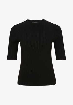 MIT HALBEM ARM - Print T-shirt - black