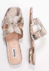 Dune London WIDE FIT - WIDE FIT LOUPE - Mules - natural - 3
