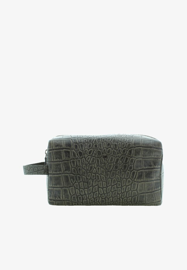 LISBOA MIT REPTILIEN-OPTIK - Wash bag - grey