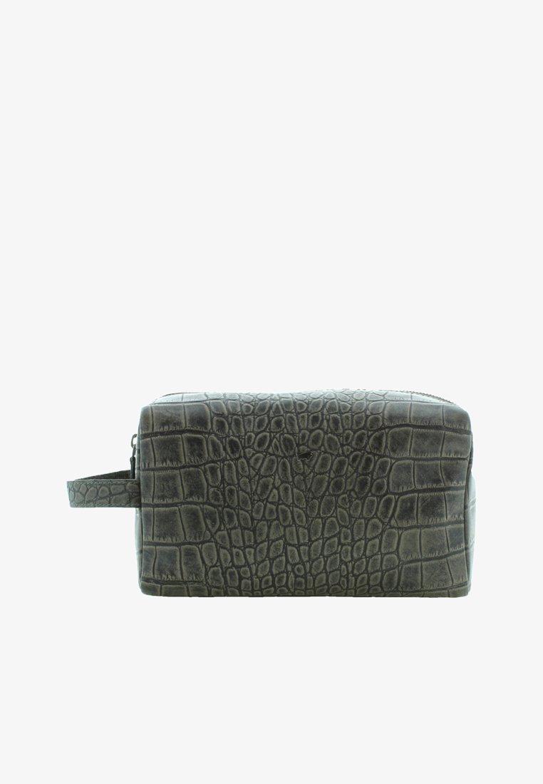 Braun Büffel - LISBOA MIT REPTILIEN-OPTIK - Wash bag - grey