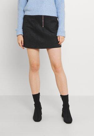 ELISA ZIP FRONT SKIRT - Mini skirt - black