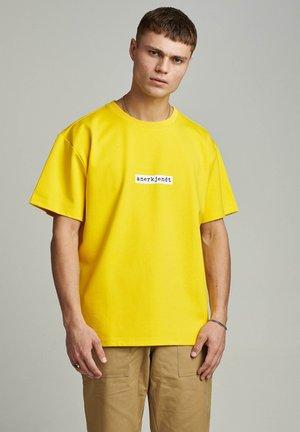 Print T-shirt - golden palm
