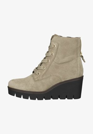 Wedge Ankle Boots - salbei (gold)