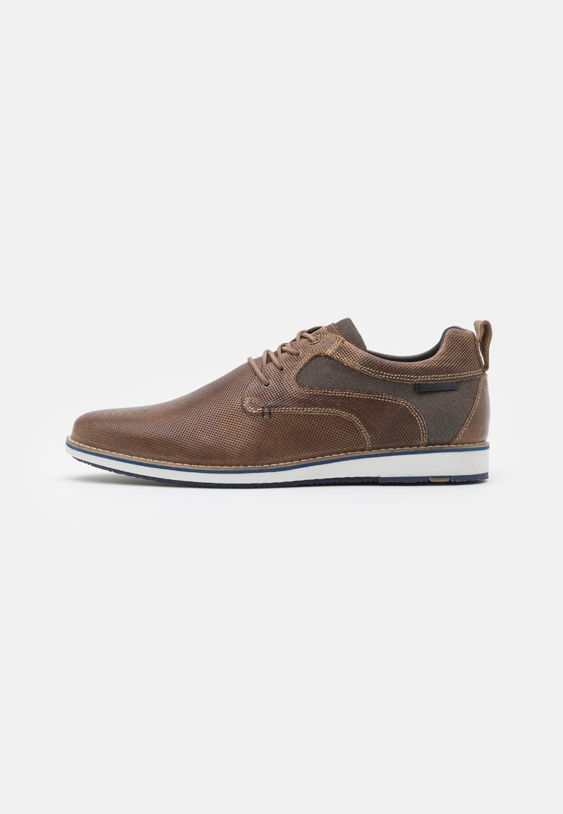 Pier One - LEATHER - Zapatos con cordones - taupe